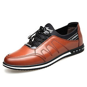 cheap Outdoor IP Network Cameras-Men's Comfort Shoes Leather Fall & Winter Oxfords Black / Brown
