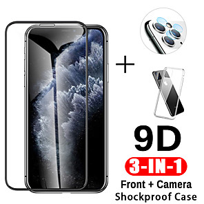 cheap iPhone Screen Protectors-3-in-1 9D Tempered Glass For iphone 11 Pro Max Case  Camera Protective Glass For iphone 11 Pro Screen Protector For iphone 111 order