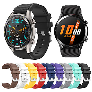 cheap Smartwatch Bands-Silicone Watch Band Wrist Strap For Huawei Watch GT 2 46mm / Honor Magic / GT Active / Watch 2 Pro Replaceable Bracelet Wristband