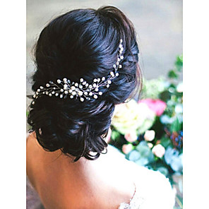cheap Jewelry Sets-Imitation Pearl Hair Combs with Imitation Pearl 1 Piece Wedding Headpiece