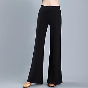 cheap Ballroom Dancewear-Ballroom Dance Pants Gore Women's Training Performance High Crystal Cotton Polyester