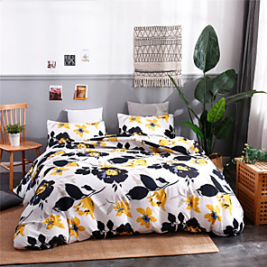 cheap Solid Duvet Covers-Duvet Cover Sets Ultra Soft Polyester/ Polyamide Floral/ Botanical Printed 3 Piece Bedding Sets