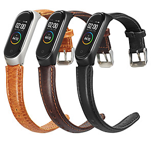 cheap Smartwatch Bands-Genuine leather band wrist strap for xiaomi mi band 4/3 smart watch Bracelet