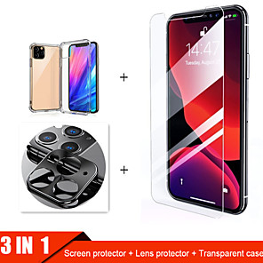 cheap iPhone Screen Protectors-3-in-1  Tempered Glass For iphone 11 Pro Max Case  Camera Protective Glass For iphone 11 Pro Screen Protector For iphone 11