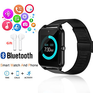 cheap Smartwatches-Indear Z60 Men Women Smartwatch Android iOS Bluetooth 2G Waterproof Touch Screen Sports Calories Burned Hands-Free Calls Timer Stopwatch Pedometer Call Reminder Activity Tracker