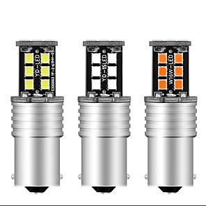cheap Car Audio-2pcs 1156 BA15S Canbus Super Bright 12V DRL S25 2835 15 SMD 15 LED P21W led NO Error Turn Car Signal Parking Bulbs Front Turn