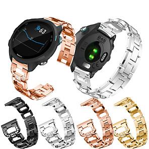cheap Smartwatch Bands-Jewelry Diamond Watch Band For Garmin Vivoactive 3 / Vivomove HR / Venu / Forerunner 645 / 245 / Vivomove Replaceable Stainless Steel Bracelet Wrist Strap Wristband