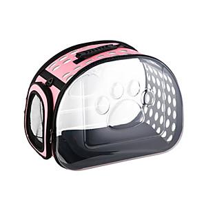 cheap Dog Travel Essentials-Dog Cat Carrier Bag & Travel Backpack Shoulder Messenger Bag Travel Carrier Bag Breathable Adjustable / Retractable Folding Solid Colored ABS+PC Black Pink