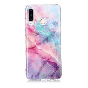 cheap Huawei Case-Case For Huawei Huawei P30 / Huawei P30 Pro / Huawei P30 Lite Ultra-thin / Pattern Back Cover Marble TPU