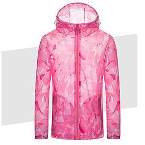 cheap Softshell, Fleece & Hiking Jackets-Women's Track Jacket Windbreaker Running Skin Jacket Long Sleeve Breathable Running Sportswear Athleisure Wear Top Rose Pink Activewear