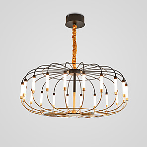 cheap Chandeliers-20 Bulbs CONTRACTED LED® Lantern Chandelier Uplight Metal LED 110-120V / 220-240V