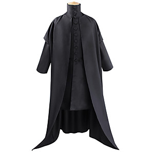 cheap Historical & Vintage Costumes-Magic Harry Outfits Men's Women's Movie Cosplay Halloween Black Coat Top Halloween Carnival Terylene Poly / Cotton Blend / Bell Sleeve