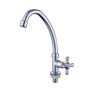 cheap Kitchen Faucets-Kitchen faucet - Single Handle One Hole Electroplated Standard Spout / Tall / ­High Arc Free Standing Contemporary Kitchen Taps