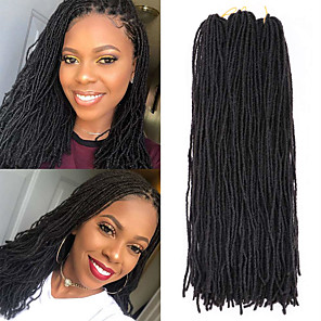 cheap Synthetic Lace Wigs-Faux Locs Dreadlocks Senegalese Twist Box Braids Natural Color Synthetic Hair Braiding Hair 4 Pieces
