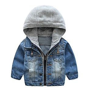 cheap Clutches & Evening Bags-Kids Boys' Street chic Color Block Jacket & Coat Blue