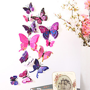 cheap Wall Stickers-Animals Double Layer Wall Stickers 3D Wall Stickers Decorative Wall Stickers Light Switch Stickers Fridge Stickers Wedding Stickers PVC Home - Purple