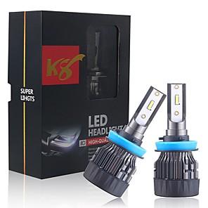 cheap Car Headlights-2PCS K8 Car headlight H1 LED H3 LED H4 hi/lo H7 H11 H8 9005/HB3/9006/HB4 880 9004 9012 Auto Headlamp Lights 7200LM 6000k