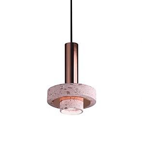 cheap Pendant Lights-1-Light QIHengZhaoMing 22 cm Pendant Light Metal Ceramic Electroplated Modern 110-120V / 220-240V