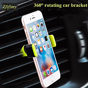 cheap Phone Mounts & Holders-Car Mount Stand Holder Air Outlet Grille Buckle Type / 360°Rotation Silicone Holder