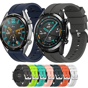 cheap Smartwatch Bands-Watch Band for Huawei Watch GT / Huawei Watch GT 2 46mm Huawei Sport Band / Classic Buckle / Modern Buckle Silicone Wrist Strap