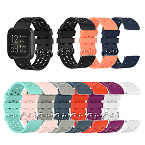cheap Smartwatch Bands-Watch Band for Fitbit Versa / Fitbi Versa Lite / Fitbit  Versa 2 Fitbit Sport Band / Classic Buckle / Modern Buckle Silicone Wrist Strap