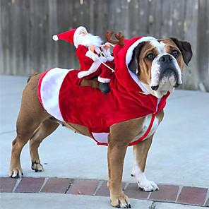 cheap Dog Clothes-Dog Coat Winter Dog Clothes Costume Husky Acrylic Fibers Cotton Christmas Cool Christmas XL