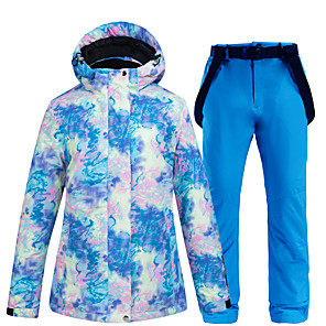 cheap Cycling Jersey & Shorts / Pants Sets-ARCTIC QUEEN Women's Ski Jacket with Pants Skiing Snowboarding Winter Sports Waterproof Windproof Warm POLY Eco-friendly Polyester Pants / Trousers Tracksuit Top Ski Wear