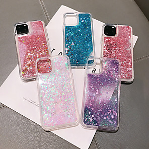 cheap iPhone Cases-Case For Apple iPhone 11 / iPhone 11 Pro / iPhone 11 Pro Max Flowing Liquid / Pattern / Glitter Shine Back Cover Transparent TPU