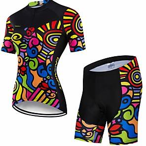 cheap Cycling Jersey & Shorts / Pants Sets-CAWANFLY Women's Short Sleeve Cycling Jersey with Shorts Black Bike Clothing Suit 3D Pad Quick Dry Winter Sports Spandex Lycra Curve Mountain Bike MTB Road Bike Cycling Clothing Apparel / Advanced