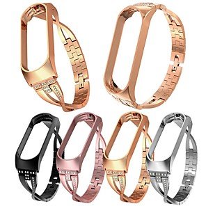 cheap Smartwatch Bands-Xiaomi Mi Band 4 luxury Replacement smart watch band Wrist Strap Stainless Steel Bracelet Bangles Mi Band 3/4 band metal case