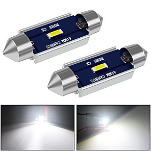 cheap Car Headlights-31mm 36mm 39mm 41mm Canbus LED Light Super Bright  12V DC 500LM White for Reading Door Glove Box License Plate Boot Light 2pcs