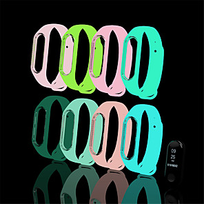 cheap Smartwatch Bands-Luminous Bracelet Strap Wristband Wrist Band Replacement For Xiaomi Mi Band 4/3