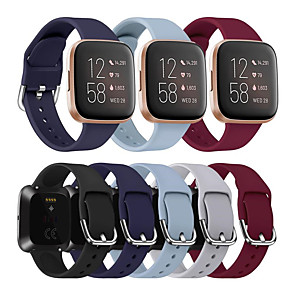 cheap Smartwatch Bands-Watch Band For Fitbit Versa / Fitbit Versa Lite / Fitbit Versa 2 Fitbit Sport Band / Classic Buckle / Modern Buckle Silicone Wrist Strap