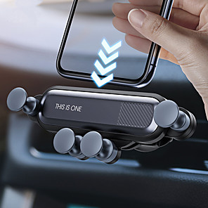 cheap Phone Mounts & Holders-Gravity Car Holder Phone in Car Air Vent Clip Mount No Magnetic Mobile Phone Holder GPS Stand for iPhone 11  Huawei P30 Samsung Note 10 Xiaomi CC9