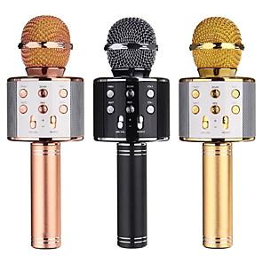 cheap Microphones-WS858 Microphone Wireless Bluetooth Karaoke  Microphone USB KTV Player Mobile Phone Player Mic Speaker Record Music