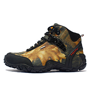 cheap Hunting Cameras-Men's Hiking Shoes Hiking Boots Waterproof Non-Skid Wear Resistance High-Top Camping / Hiking Hunting Hiking High Quality EVA Rubber Spring &  Fall Summer Yellow Khaki / Climbing