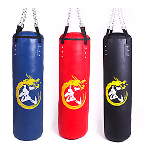 cheap Synthetic Lace Wigs-Punching Bag Heavy Bag Kit For Taekwondo Boxing Karate Martial Arts Adjustable Durable Empty Strength Training 360° Rotation PU 1 pcs Adults - Black Red Blue