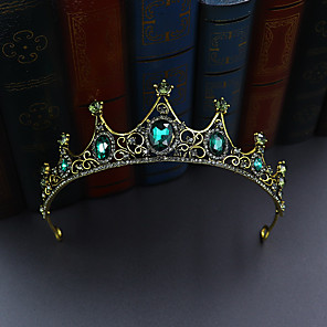 cheap Costumes Jewelry-Tiaras Crown Masquerade Royal Style Halloween Alloy For Princess Aurora Cosplay Halloween Carnival Women's Costume Jewelry Fashion Jewelry