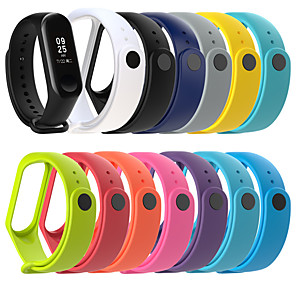 cheap Smartwatch Bands-Replacement Silicone Smart Watch Strap for Xiaomi Mi band 4 band 3