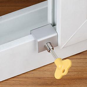 cheap Professional Tools-3Pcs Door Window Lock Restrictor Aluminum Children Security Window Cable Limit Lock Security Key Lock Combination Lock Door