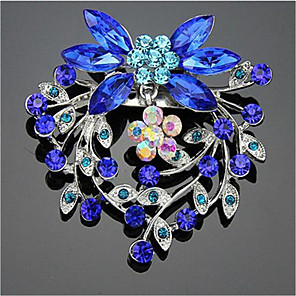 cheap Religious Jewelry-Women's Cubic Zirconia Brooches Geometrical Santa Suits Stylish Brooch Jewelry Blue For Christmas Daily