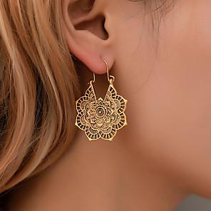 povoljno Modne naušnice-Žene Naušnica Cvijet Naušnice Jewelry Zlato / Srebro Za Praznik 1 par