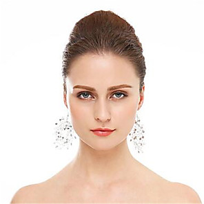 Χαμηλού Κόστους Σκουλαρίκια-Γυναικεία Κρίκοι Γεωμετρική Τυχερός Ευρωπαϊκό Σκουλαρίκια Κοσμήματα Ασημί Για Γάμου 1pc