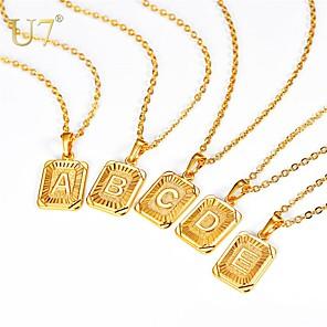 cheap Pendant Necklaces-Men's Women's Pendant Necklace Necklace X Letter Simple Fashion Initial Copper Gold Silver 55 cm Necklace Jewelry 1pc For Gift Daily Graduation Festival / Charm Necklace