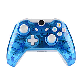 cheap Phones & Accessories-GH8151   XBOX ONE Controller  Wireless headset for Microsoft Xbox ONE Console & PC Windows7/8/10 - Transparent shell  Key improvement  Three mode Dazzling LED(Penetrating blue)