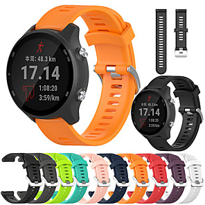 cheap Smartwatch Bands-Sport Silicone Watch Band For Garmin Forerunner 245 / 645 / Vivoactive 3 / Venu / Vivomove HR Replaceable Bracelet Wrist Strap Wristband