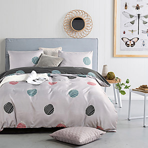 cheap Duvet Covers-Duvet Cover Sets Polka Dot Polyester / Polyamide Reactive Print / Printed 3 PieceBedding Sets