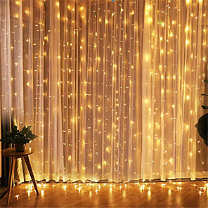 cheap LED String Lights-1pcs 3*3m Led Icicle Led Curtain Fairy StringLlight Fairy Light 300 led Christmas Light for Wedding Home Window Party Decor