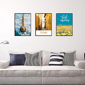 cheap Framed Arts-Framed Art Print Framed Set - Landscape Scenic PS Illustration Wall Art
