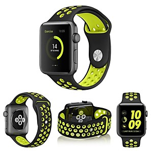 cheap Cycling Jerseys-Watch Band for Apple Watch Series 5/4/3/2/1 Apple Sport Band Silicone Wrist Strap